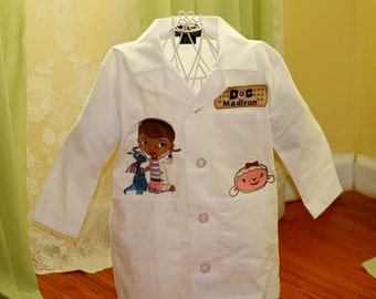 Deluxe Doc McStuffins Kids Lab Coat - Personalized Embroidered Labcoat - Boy or Girl