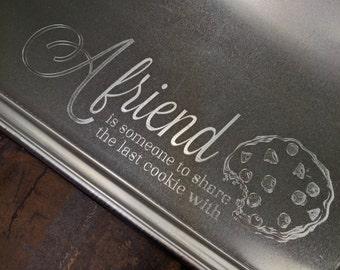 Large Cookie Engraved Aluminum Baking Sheet