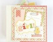 Baby Girl Scrapbook Mini Album Kit or Premade Newborn Gift