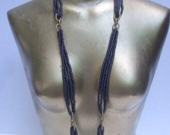 Opulent Glass Beaded Opera Length Necklace