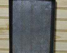 Vintage Metal Waffle Pattern Baking Pan 9130 Rectangle