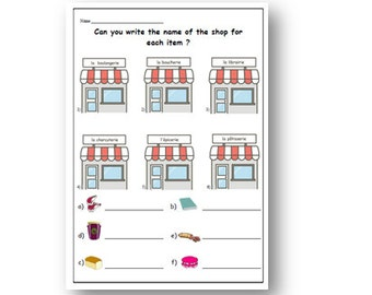FRENCH Ice Cream Flavours WORKSHEET With Writing ExerciseFood