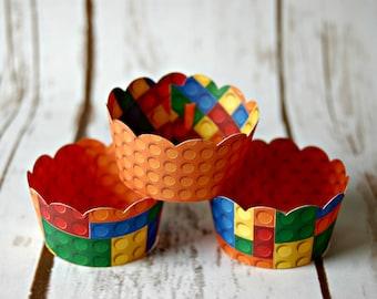 Lego Mini Cupcake Wrappers