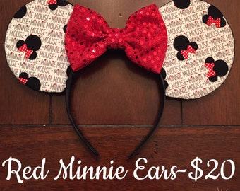 Red Minnie ears