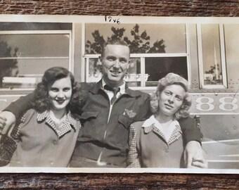 Original Vintage Photograph At the Junction 1946