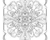 Floral Mandala to color(large)
