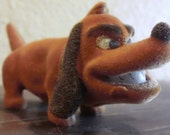 Vintage Felt Bully Weiner Dachshund Dog Felt Teeth Bite