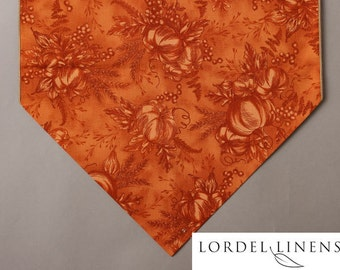 Awesome Pumpkin Table Runner, 72u201d Table Runner, Pumpkins And Berries, Burnt Orange  Tonal