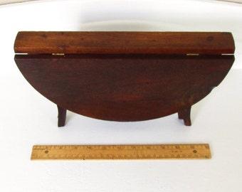 Antique Victorian Salesman Sample Walnut Drop Leaf Table 1874 Connecticut