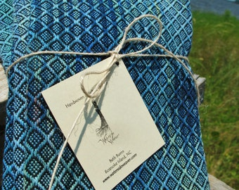 Handwoven Napkins, Hand dyed, Linen and Cotton