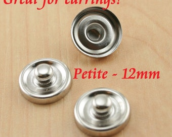 10 PETITE Size. 12mm Deep Well Snap Top - One Piece 12mm Bezel Trays - Snap  Trays. DIY-Optional 12mm Glass Domes (10), 12mm Seals -10 or 20