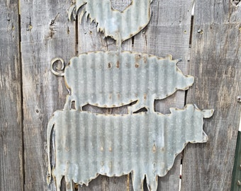 Cow Pig Chicken Sign/ Wall Hanging/Kitchen/Diner/Cafe/ Free Shipping