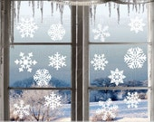 Winter Snowflake Decals Window Snowflake Decal Variety Pack Winter Holiday Decor Christmas Holiday Decorations Vinyl Window Decals 14 Pk