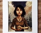 Matted Print: Waif