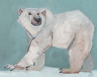 Polar Bear Original Oil Painting