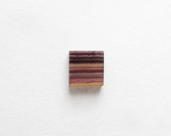 Natural Multicolor Fluorite, Unheated, Square, 19.04 carats