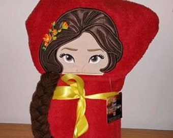 Latin Princess Hooded Bath Towel