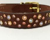 Pastel Sunset inspired Dog collar, rhinestone dog collar, swarovski dog collar