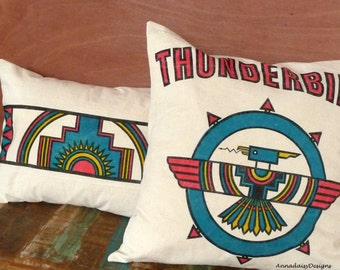 Southwestern Pillow Cover - Thunderbird Pillow Cover - Southwest Decor - Southwest Pillow - Totem Pillow