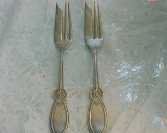Silver Serving Forks Vintage Art Deco