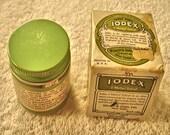 Vintage Iodex Jar With Original Box Medical Jar Drug Store Medicine Medication 1930s Medical