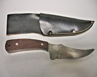 Hand Made Kiridashi Knife Steel Blade Walnut Handle Vintage hand made