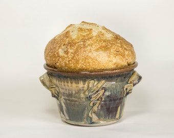 Natural Green Bread Crock