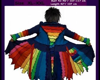 Elf coat, size XL, size XXL, eLF sWEATER, sweater coat, fairy, dress, women hoodie, gypsy, pixie