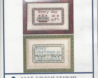 "Clearance-""Gift of Opportunity"" Counted Cross Stitch by Blue Ribbon Designs"