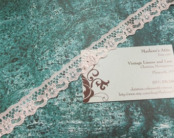 1 yard of 3/4 inch White chantilly lace trim for bridal, veils, altered couture, costume by MarlenesAttic - Item 2Y