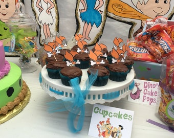Pebbles Flintstone Cupcake Topper