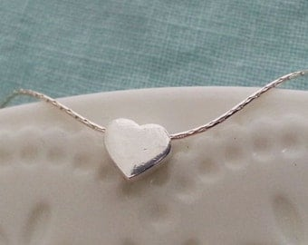 Heart Bracelet, Valentines Gift, Delicate Dainty  Bracelet, Heart Charms, Sterling Silver Bracelet. Gift For Her, Love Bracelet