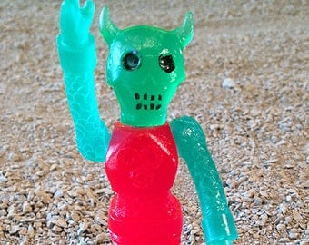 SEA-BORG MUTATION  Wave 2 Plastic Resin Figure - green queen devil