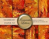 SALE Marbled digital paper pack digital scrapbook orange paper,  scrapbook background origami paper