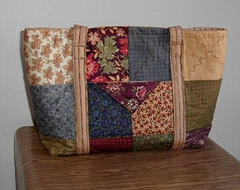 Charming quilted, pieced, large purse/tote, by Florence