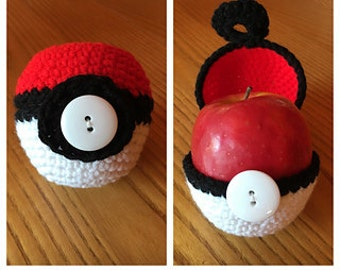 Pokemon Pokeball Apple Cozy Fruit Jacket *Pattern* Crochet