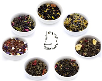 Loose Leaf Tea Sampler Pack (Pick 7) - Tea - All Natural Tea - Handblended Tea - Iced Tea