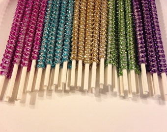 12 Bling sticks-Wedding Favors-Party Favors-Cake Pops-Dessert Table