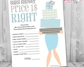 Baby Shower Games Boy, The Price is Right Baby Shower Game, Baby Shower Games Printable, Boy Baby Shower Games, Blue Price is Right Game