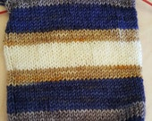 Saturated Sock Selfstriping  4 color Denim Days