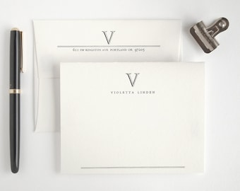 Academy Classic Stationery Set - Custom Personalized Letterpress Note Cards