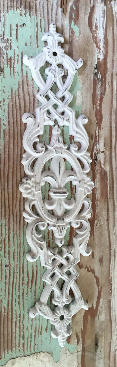 Fleur de lis decorative wall decor white wall decor paris Fleur de lis wall