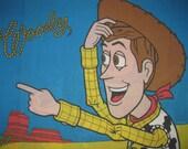 Vintage Disney Pixar Toy Story Pillowcase- Twin/Standard Pillow Case - Buzz Lightyear & Woody
