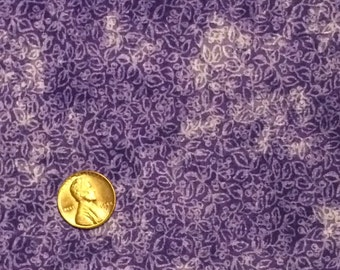 Purple Cotton Fabric / Cotton Fabric / Quilting Fabric / Purple Fabric / 1 Yard