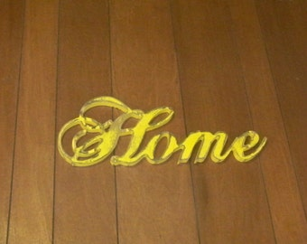 "Distressed Wood ""Home"" Sign Rustic Shabby Decor Kitchen Cabin Housewarming"