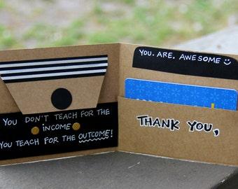 Wise Wallet- Teacher Appreciation Card