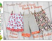 Roll Up Cuff Pants Pattern. Boys Pants Pattern Download. Toddler Shorts Pattern. Children's  Lounge Pants, Ruffle Pants Pattern. Fuddie Duds