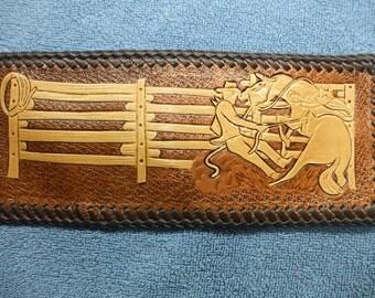custom cowboy wallet / billfold,  ( I ship the same day as you order ) (110)