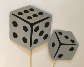 Dice photo props, 2 photo props,  party photo props, Wedding photo props,  photo booth props