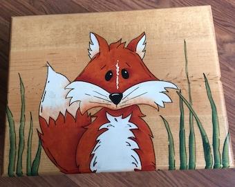 Fox Step Stool, Fox Stool, Woodland Nursery, Fox Nursery, Personalized Fox Step Stool, Personalized stool